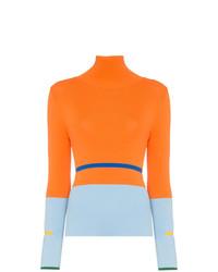 Jersey de cuello alto naranja de I Am Chen