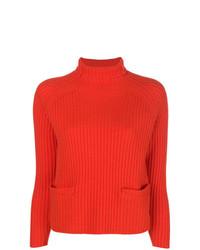 Jersey de cuello alto naranja de Philo-Sofie