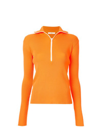 Jersey de cuello alto naranja de Tibi