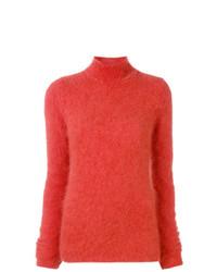 Jersey de cuello alto naranja de Ulla Johnson