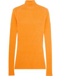 Jersey de cuello alto naranja de Victoria Beckham