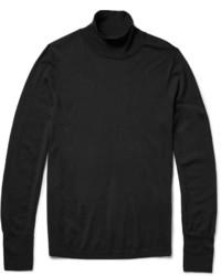 Jersey de cuello alto negro de Acne Studios