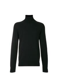 Jersey de cuello alto negro de AMI Alexandre Mattiussi