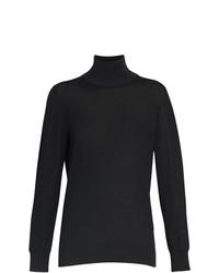 Jersey de cuello alto negro de Burberry