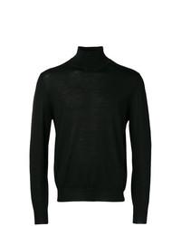 Jersey de cuello alto negro de Canali