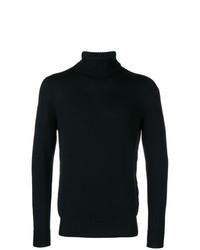 Jersey de cuello alto negro de Drumohr