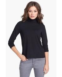 Jersey de cuello alto negro de Eileen Fisher