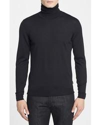 Jersey de cuello alto negro de Hugo Boss