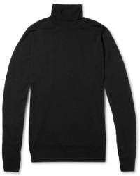 Jersey de cuello alto negro de John Smedley