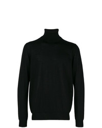 Jersey de cuello alto negro de Lanvin