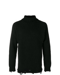 Jersey de cuello alto negro de Maison Flaneur