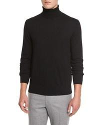 Jersey de cuello alto negro de Neiman Marcus