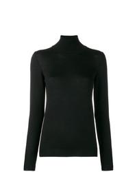 Jersey de cuello alto negro de Stefano Mortari