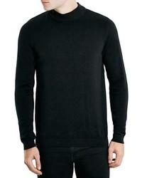 Jersey de cuello alto negro de Topman