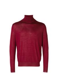 Jersey de cuello alto rojo de Canali