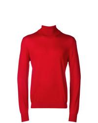 Jersey de cuello alto rojo de Fay