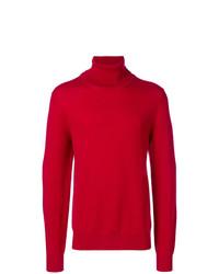 Jersey de cuello alto rojo de Maison Margiela