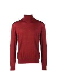 Jersey de cuello alto rojo de Z Zegna