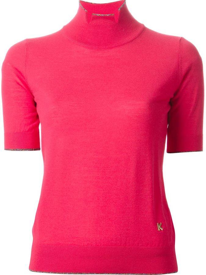 Jersey de Cuello Alto Rosa de Kenzo  dónde comprar y cómo combinar 4317ce82080a