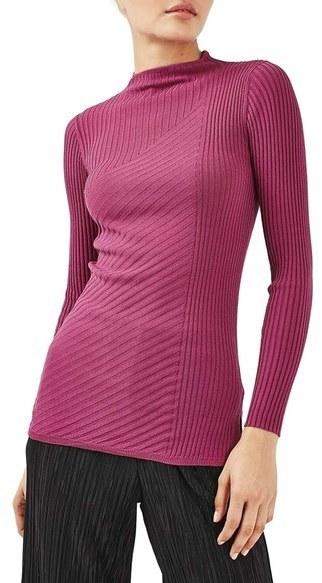 Jersey de Cuello Alto Rosa de Topshop  dónde comprar y cómo combinar ee841a5922fd