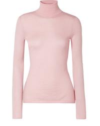 Jersey de cuello alto rosado