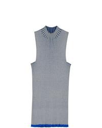 Jersey de cuello alto sin mangas gris de Burberry