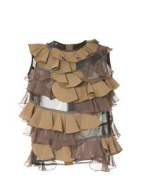 Jersey de cuello alto sin mangas marrón de Kolor