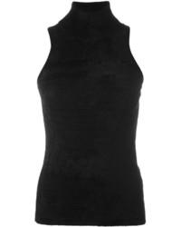 Jersey de cuello alto sin mangas negro de Antonio Marras