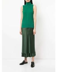 Jersey de cuello alto sin mangas verde de Lee Mathews