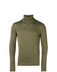 Jersey de cuello alto verde oliva de Roberto Collina