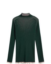 Jersey de cuello alto verde oscuro de Burberry