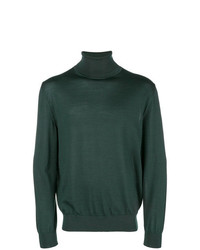 Jersey de cuello alto verde oscuro de Ermenegildo Zegna