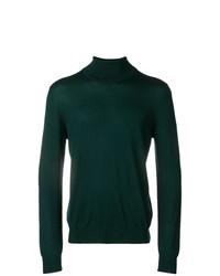 Jersey de cuello alto verde oscuro de Fay