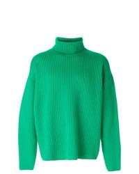 Jersey de cuello alto verde de AMI Alexandre Mattiussi
