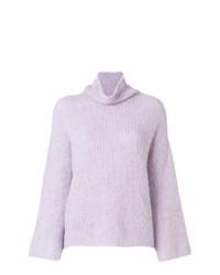 Jersey de cuello alto violeta claro de Lamberto Losani