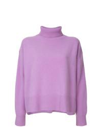 Jersey de cuello alto violeta claro de Le Ciel Bleu