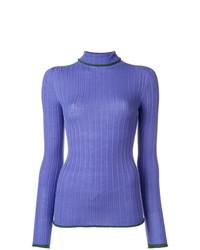 Jersey de cuello alto violeta claro de Pinko