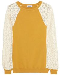 Jersey de encaje amarillo de Moschino Cheap & Chic