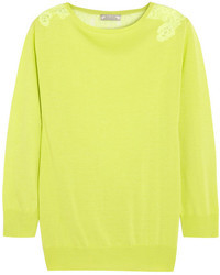 Jersey de encaje amarillo de Nina Ricci