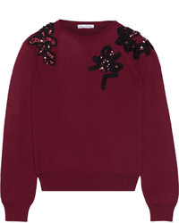 Jersey de lana burdeos de Oscar de la Renta
