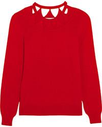 Jersey de lana con estampado geométrico rojo de Altuzarra