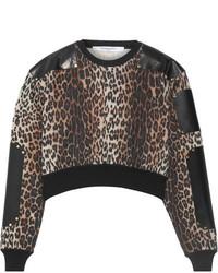 Jersey de lana de leopardo marrón de Givenchy