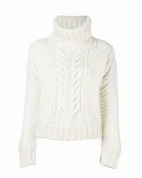 Jersey de lana de punto blanco de Tommy Hilfiger