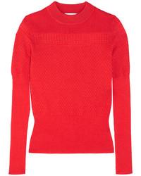 Jersey de lana de punto rojo de Carven