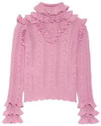 Jersey de lana de punto rosado de Gucci