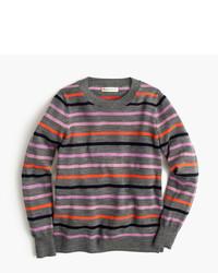 Jersey de lana de rayas horizontales verde oscuro de J.Crew