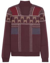 Jersey de lana estampado burdeos de Peter Pilotto