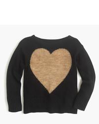 Jersey de lana estampado negro de J.Crew
