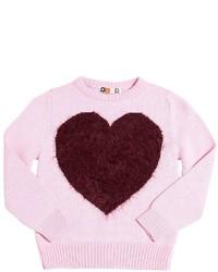 Jersey de lana estampado rosado de MSGM