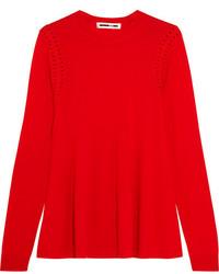 Jersey de lana rojo de MCQ